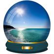 sfera di cristallo vacanze al mare