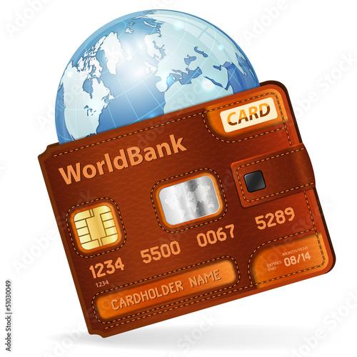 World Credit Card Concept
