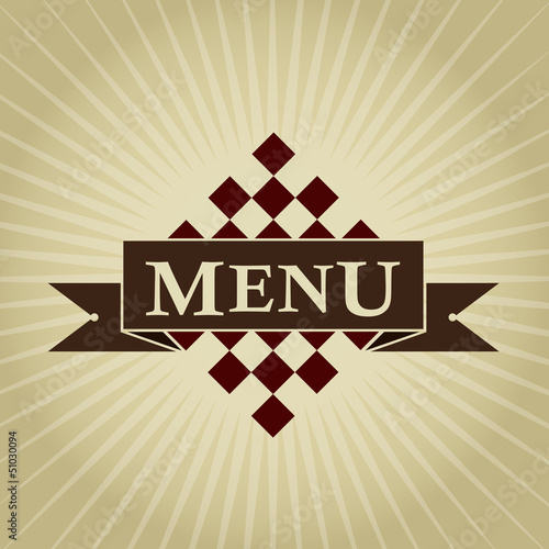 Retro Styled MENU Design
