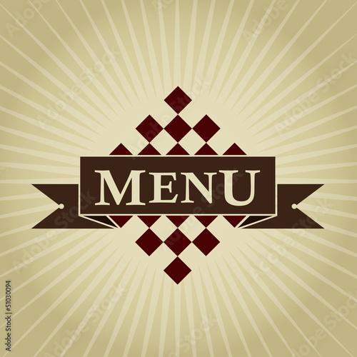Retro Styled MENU Design