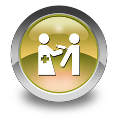 "Yellow Glossy Pictogram ""Immunizations"""
