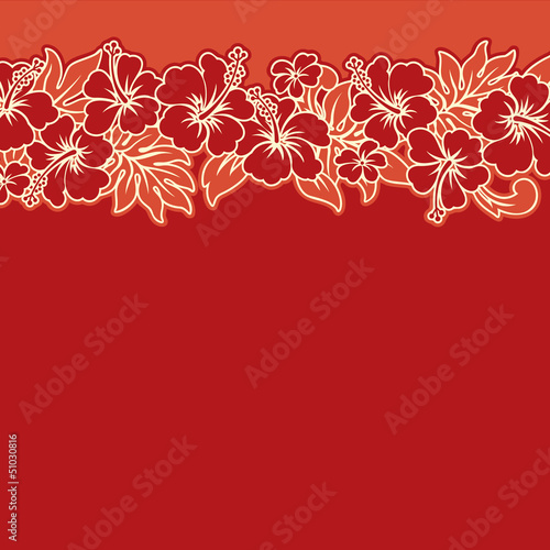 Hibiscuses vector wallpaper