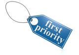 First priority label poster