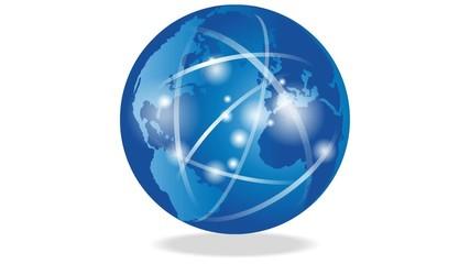 Erde, Globus, Weltkugel, Bewegung, Logo, Zeichen