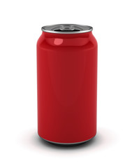 Blank red can