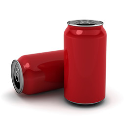 Blank red cans