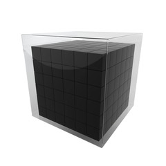 Box group in glass cube