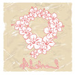 Illustration of Hawaiian flower garland