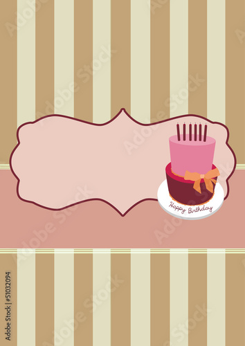 Birthday invitation card background