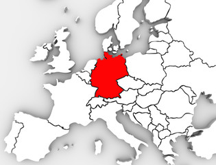 Germany Abstract Map Europe Region German Country European