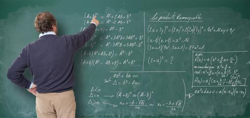 Maths lesson, male teacher