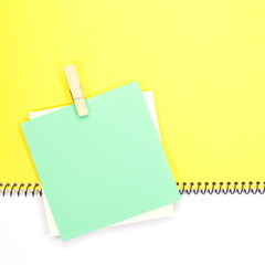 Green sticker, isolated on white background