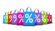 Shopping Bags Colorful Discount