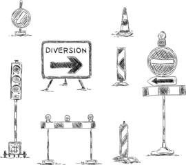 traffic sign under construction