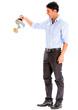 Business man watering something