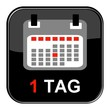 Glossy Button - Kalender: 1 Tag