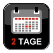 Glossy Button - Kalender: 2 Tage