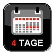 Glossy Button - Kalender: 4 Tage