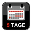 Glossy Button - Kalender: 5 Tage
