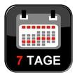 Glosy Button - Kalender: 7 Tage