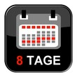 Glossy Button - Kalender: 8 Tage