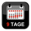 Glossy Button - Kalender: 9 Tage