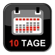 Glossy Button - Kalender: 10 Tage