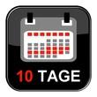 Glossy Button - Kalender: 10 Tage