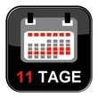 Glossy Button - Kalender: 11 Tage