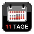 Glossy Button - Kalender: 11 Tage