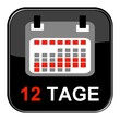 Glossy Button - Kalender: 12 Tage