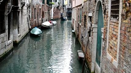 Laguna di Venezia con gondola