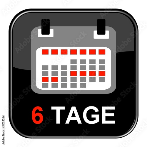 Glossy Button - Kalender: 6 Tage
