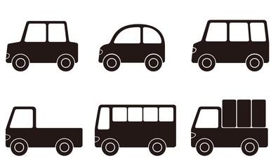 自動車 セット 白黒