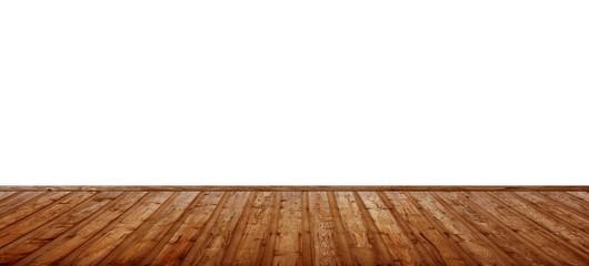 Freie Wand mit Holzfußboden