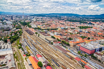 The main train station, Zagreb