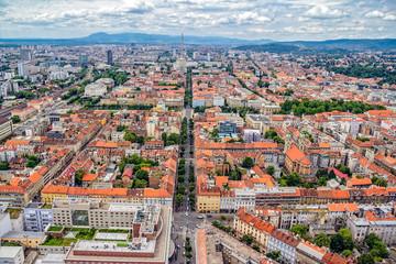 Zagreb aerial
