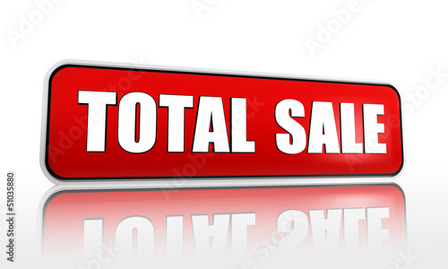 total sale red banner