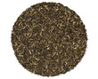 Black green jasmine tea on a white background