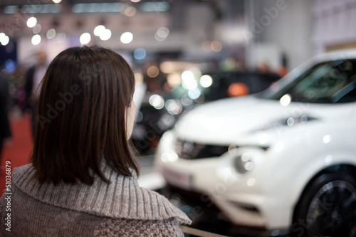 girl at the car show