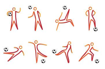 vector soccer mascot