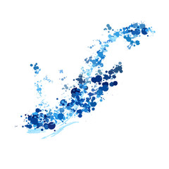 Fresh blue water splash vector