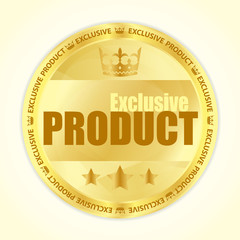 Premium member badge with royal crown and three golden stars