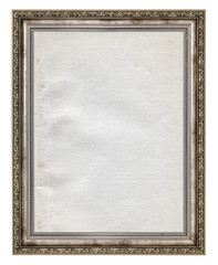 wooden frame with stained paper interior