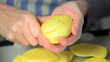 woman making frech fries