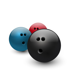 Vector illustration of bowling balls