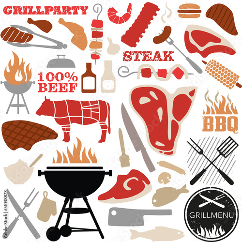 grill vector-set color - 51038873