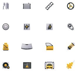 Car service icon set. Part 2