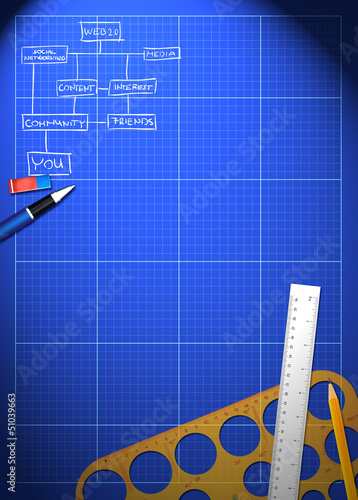 Business blueprint background
