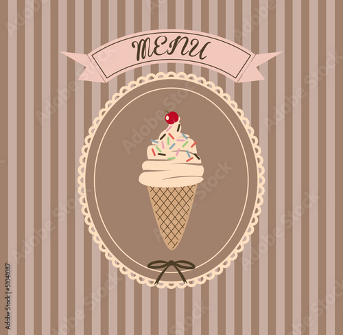 Menu Ice Cream Vintage